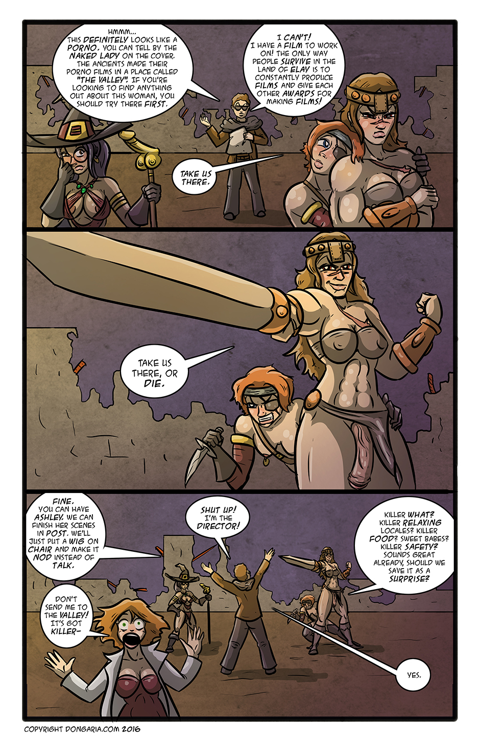 Babes of Dongaria Chapter 3 Page 9: Location Scouting